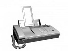 Sharp Inkjet Fax Machine 3d model