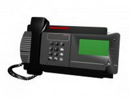 Telefax machine 3d model