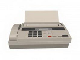 Telecopier machine 3d model