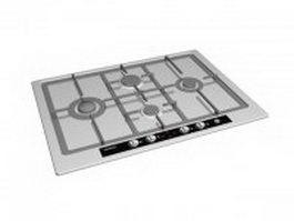 Siemens kitchen cooktop 3d model