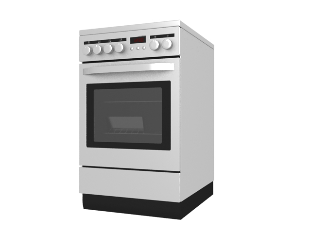 Electric stove with oven 3d model