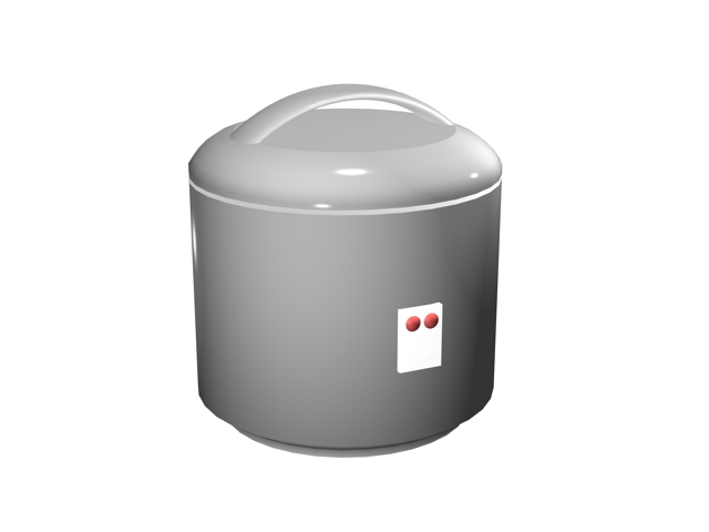 Electric Rice Maker 3d Model 3ds Max Files Free Download
