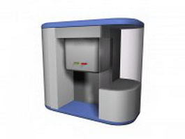Desktop hot & cold water dispenser 3d model