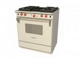 Wolf stove oven range 3d model