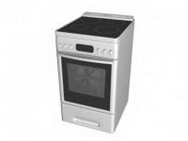 Electric range oven 3d model