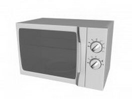 Microwave oven with grill 3d model