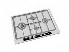 Siemens gas cooktop 3d model
