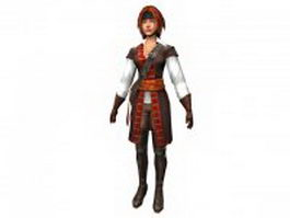 Age of pirates character Beatrice 3d model
