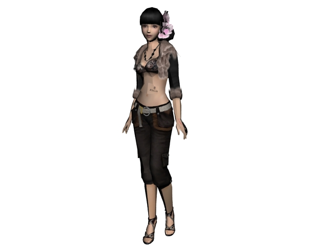 Cmivfx Character Concept Design And Vray : Fashion asian girl d model ds max files free download