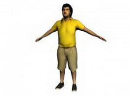 Fat man standing 3d model