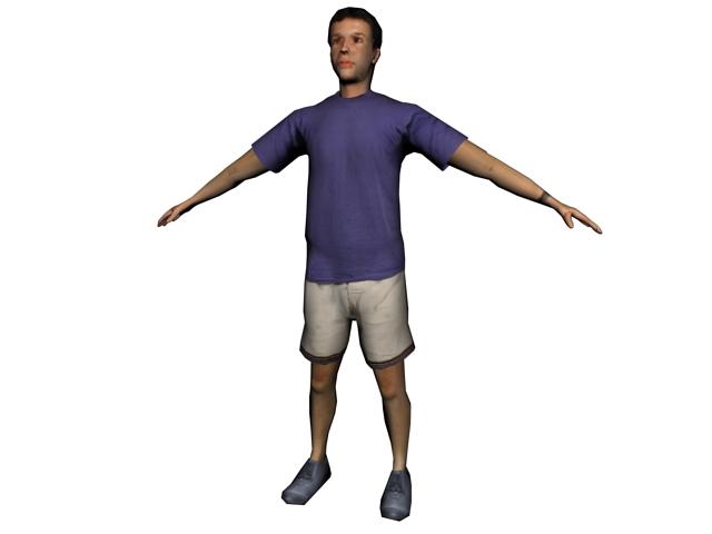 Sportsman standing 3d model