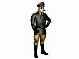 German Nazi officer 3d model