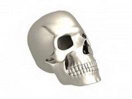 A human skull 3d model
