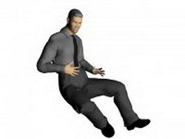 Businessman sitting in chair 3d model
