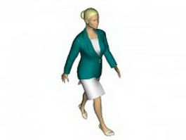 Sexy business woman 3d model