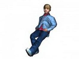 Blond boy 3d model