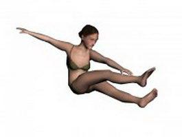 Swimwear woman 3d model