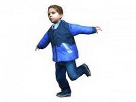 Happy boy running 3d model