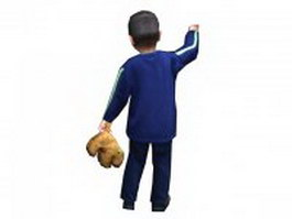 Little boy standing 3d model
