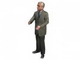 Senior business man 3d model