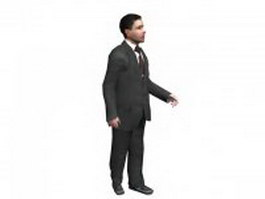 Office man standing 3d model