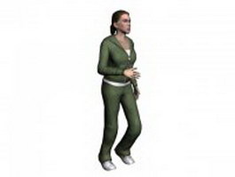 Sports woman 3d model