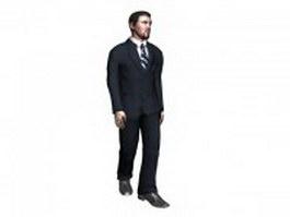 Man in business suit 3d model