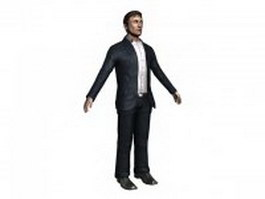Businessman standing T-pose 3d model