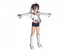 Anime girl character 3d model