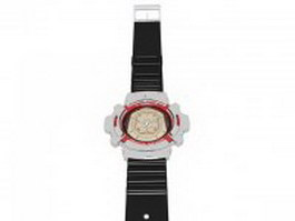 G-Shock wristwatch 3d model