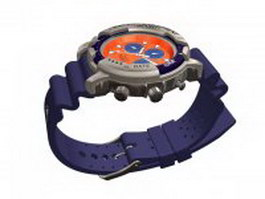 Racer sport watch 3d model
