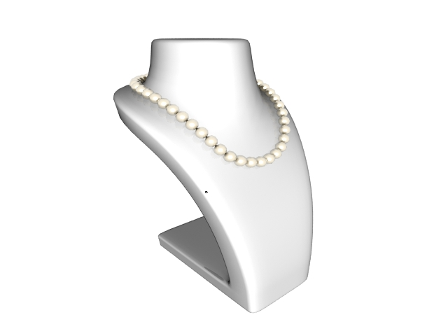 freshwater pearl necklace 3d model 3ds max files free download