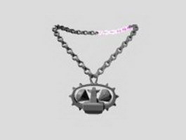 Talisman necklace 3d model