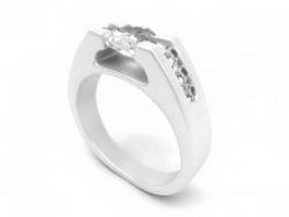 Eternity symbol ring 3d model