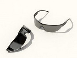 Wind-proof sunglasses 3d model