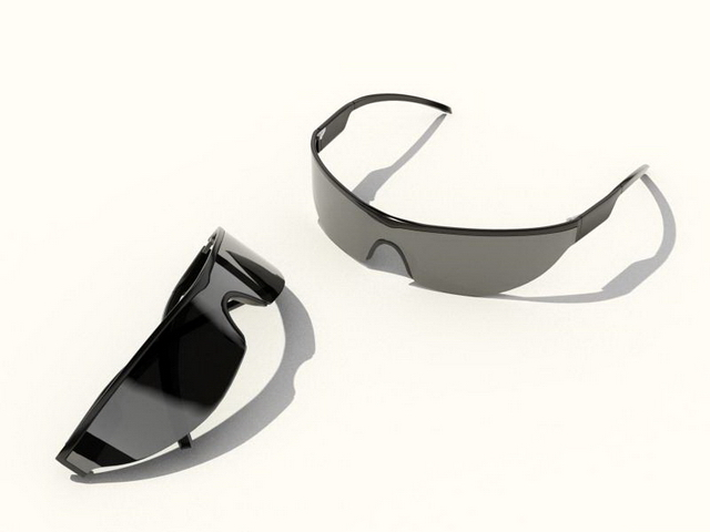 Wind-proof sunglasses 3d rendering