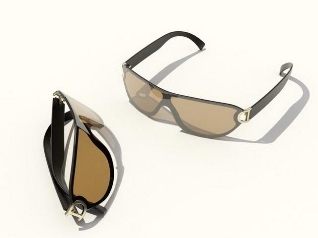 D&G sunglasses 3d rendering