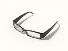 Black frames glasses 3d model
