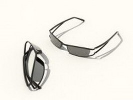 Wrap-around sunglasses 3d model