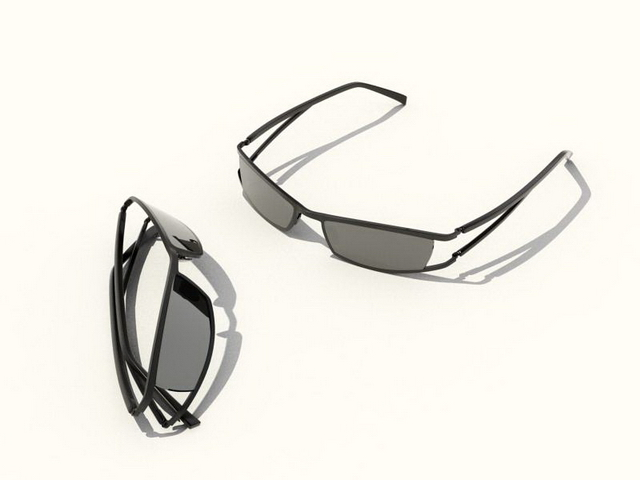 Wrap-around sunglasses 3d model 3ds max,DXF,FBX,Object files free