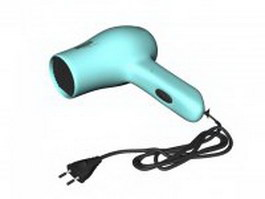 Compact hair dryer 3d model