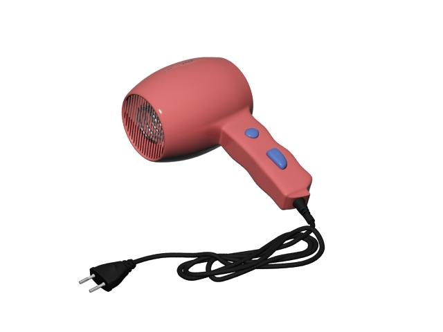 Mini Travel Hair Dryer 3d Model 3ds Max Files Free