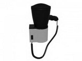 Wall mount hair dryer 3d model