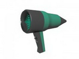 Travel hair dryer 3d model