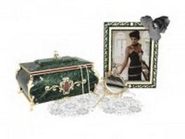 Antique vanity and dresser sets 3d model