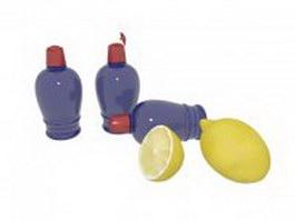 Lemon perfume 3d model