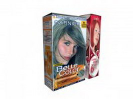 Hair coloring box 3d model