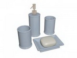 Personal hygiene products 3d model