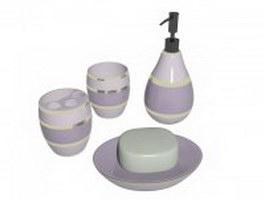 Bathroom hygiene products 3d model