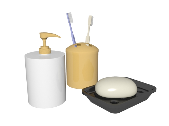 Bathroom Toiletries 3d Model